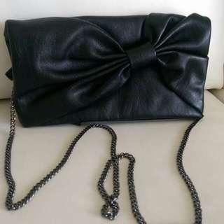 Black GAP clutch evening bag