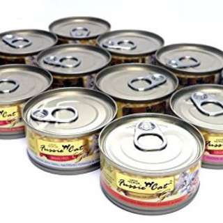 Fussie Cat Gold Label Cat Food 80g, 24 cans