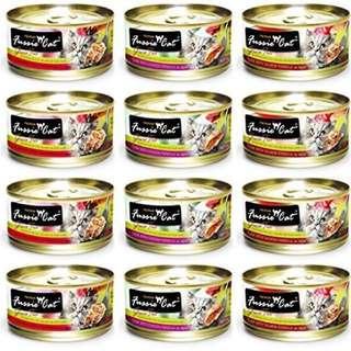 Fussie Cat Black Label Cat Food 80g, 24 cans