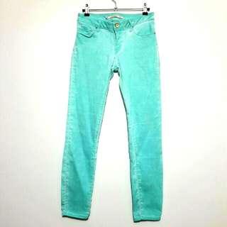 Zara Woman Premium Denim Turquoise Acid Wash Super Skinny Jeans
