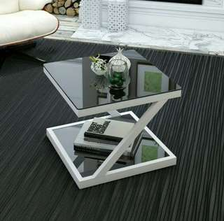 2 LAYER COFFEE TABLE(TEMPERED GLASS)
