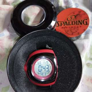 Spalding watch red and black