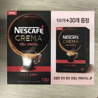 Nescafé Creme 韓版 即溶美式咖啡一盒(130條)coffee