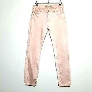 Zara Woman Premium Denim Peach Acid Wash Super Skinny Jeans