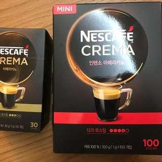 韓國 Nescafé crema即溶美式咖啡-金盒