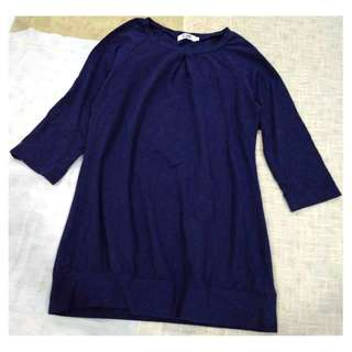 TI:ZED NAVY BLUE LONG SLEEVES TOP