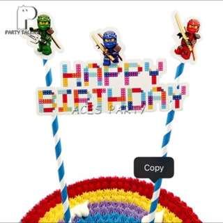 💥Lego Ninjago Party Supplies - DIY Cake deco / birthday cake topper