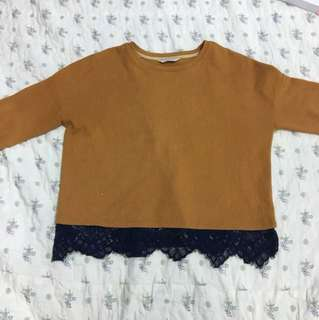 Seed Top Mustard Lace
