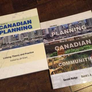 Canadian Geography Textbook pair