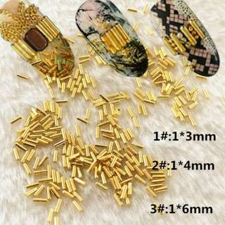 Gold Metal Rods Rivets Studs