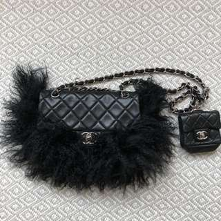 Chanel 極罕有毛毛 flap bag