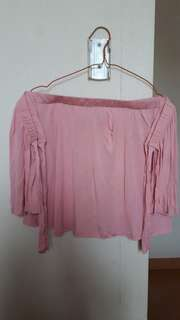 Pink Off-shoulder / Sabrina Pink