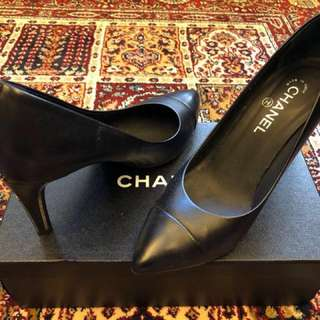 Black Chanel Heels size 40