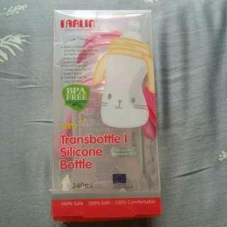 FARLIN transbottle l silicon bottle 240ml - pink