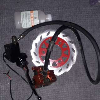 Feont diskbrake for inverter fork