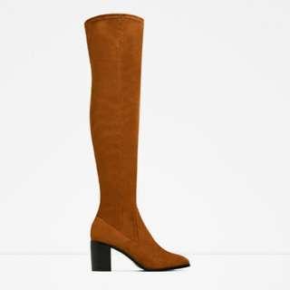 Zara Stretch Knee High Boots