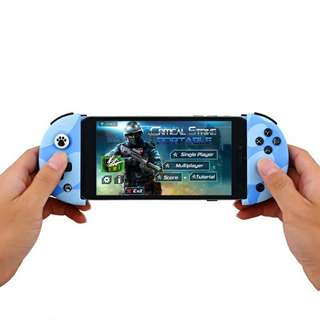 FlyDiGi Wee Mobile Game Controller - Stretchable Handle, Bluetooth Support, Built-in Battery, Anti-Slip Grip (Blue) Or (Black) (CVAIA-A862)