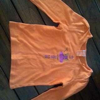 Kaos orange anak perempuan
