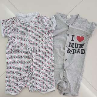 Pre❤ H&M baby rompers