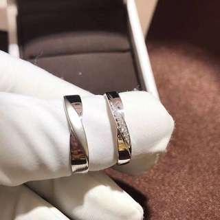 18k白金鑽石婚戒情侶對戒💍情人節禮物