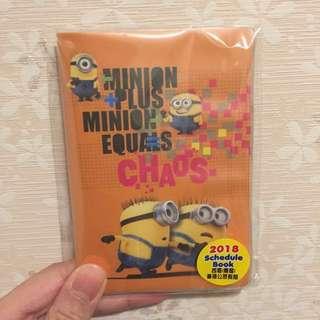 Minion Mini Schedule Book 2018😻