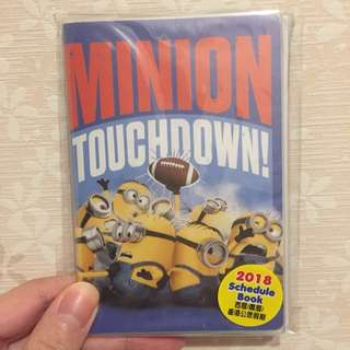 Minion Mini Schedule Book 2018😻