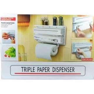 Wall hanging tissue Triple paper dispenser  for kitchen