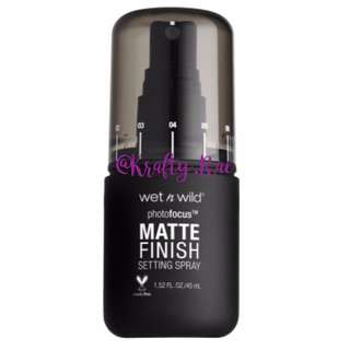 ✨ INSTOCK SALE: WET N WILD Photo Focus Matte Setting Spray - Matte Appeal
