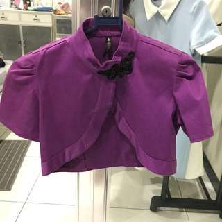 Cheongsam Purple Cardigan