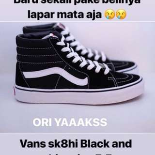 Vans Sk8hi Black And White Size 5.5