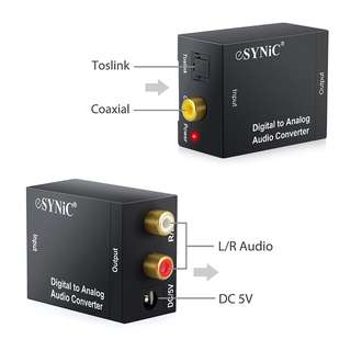 (BNIB) ESYNiC Digital to Analog Audio Converter (Brand New Boxed)