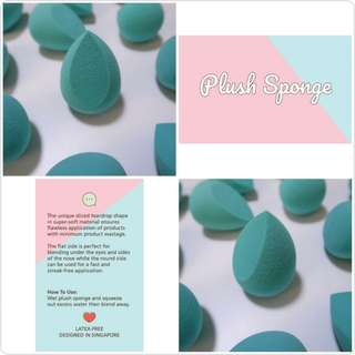 PLUSHSPONGE ❤ Super soft Makeup Sponge, best for blending cream/liquid based foundation, concealer/corrector, contour/highlighter, blusher!