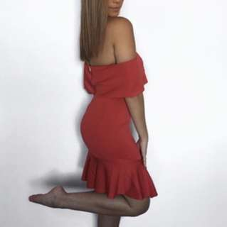 Red dress new with tags size 8