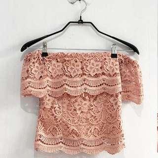 crochet furing (warna nude)