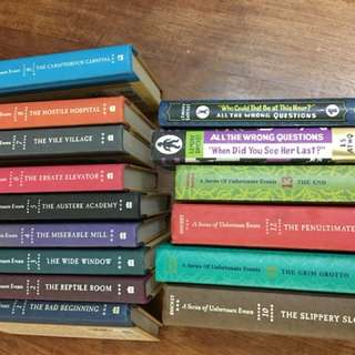 15 Lemony Snicket books - a series of unfortunate events