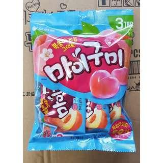 預購 韓國空運 ORION 水蜜桃 夾心 軟糖  55g