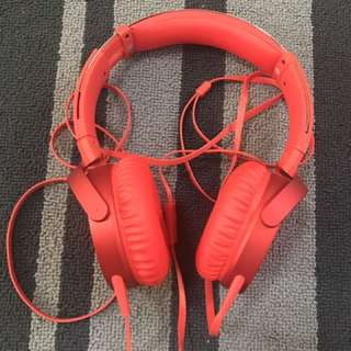 SONY Headphones in red Colour