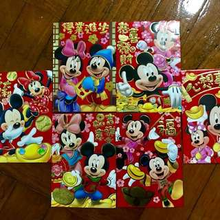 Mickey Minnie Mouse red packet / ang bao