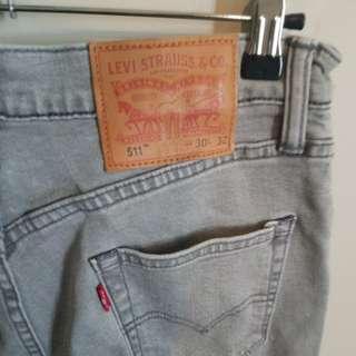 Men's Levi Grey Jeans w30 l32