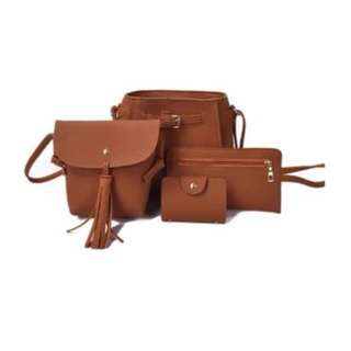 4 in 1 Korean Classic Leather Bag