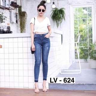 Punny 624 Rp135.000 Soft jeans stretch. Sz 27-30. Redi jkt
