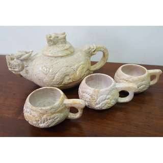 Stone Chinese Dragon Tea Pot