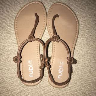 Sandals Brown Leather