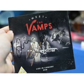 MEET THE VAMPS SIGNED DVD