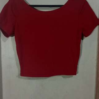 Red Cropped Top (Forever 21)