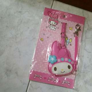 My melody luggage tag, name tag and card holder