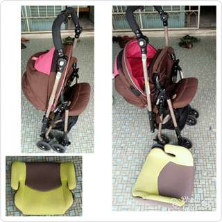 Aprica Stroller and car seat