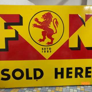 F&N Sold Here Enamel Signage (Near Mint)