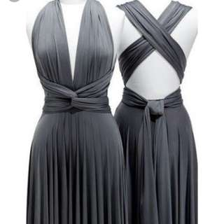 Infinity Long Dress Dark Gray Used Once