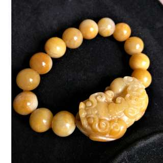 Yellow Jade Pixiu(貔貅), Fortune and Protection